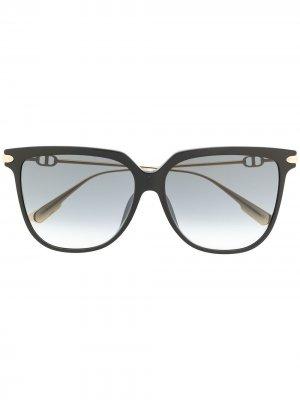 Солнцезащитные очки с затемненными линзами Dior Eyewear. Цвет: черный