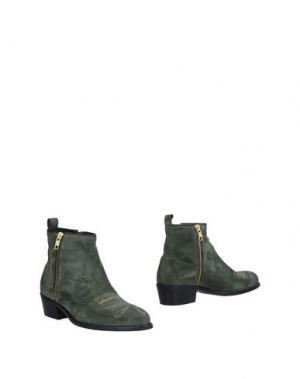 Полусапоги и высокие ботинки ALEXANDER HOTTO. Цвет: зеленый
