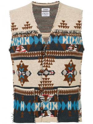 Жаккардовый жилет Native Coohem. Цвет: коричневый