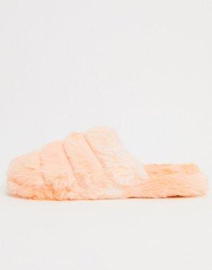 Оранжевые стеганые слиперы -Оранжевый ASOS DESIGN