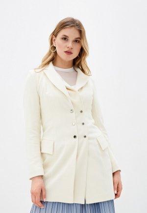 Пальто Adzhedo. Цвет: белый