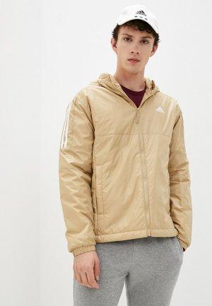 Куртка утепленная adidas ESS INS HO JKT. Цвет: бежевый