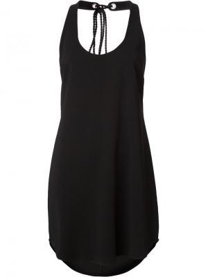 Платье-майка с кисточками сзади A.L.C.. Цвет: чёрный