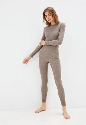 Комплект термобелья Montero Cotton Comfort. Цвет: коричневый