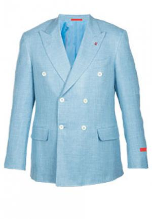 Пиджак ISAIA. Цвет: голубой