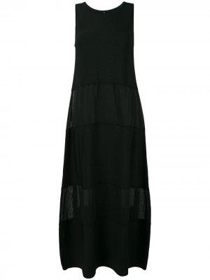 Длинное платье со вставками Pierantoniogaspari. Цвет: черный