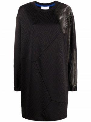 Платье-свитер с зебровым принтом Koché. Цвет: черный
