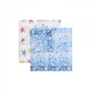 Комплект из 2-х пеленок Aden+Anais. Цвет: разноцветный