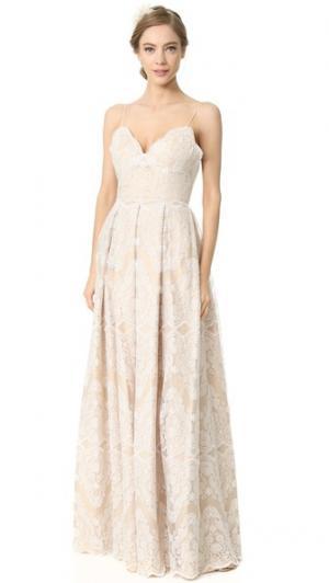 Вечернее платье Helena Catherine Deane. Цвет: устричный/телесный