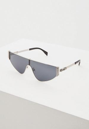 Очки солнцезащитные Moschino MOS022/S 6LB. Цвет: серебряный