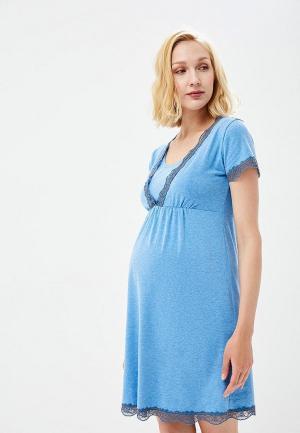 Платье домашнее Fest. Цвет: голубой