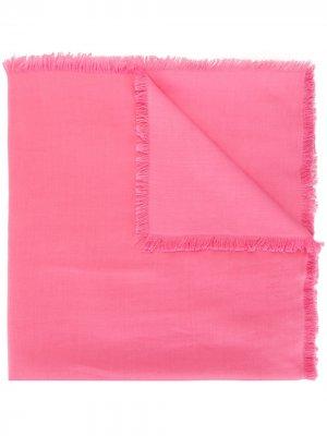 Шарф с бахромой Carolina Herrera. Цвет: розовый