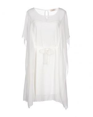 Короткое платье FIFILLES. Цвет: белый