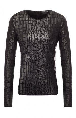 Пуловер из вискозы Tom Ford. Цвет: черный