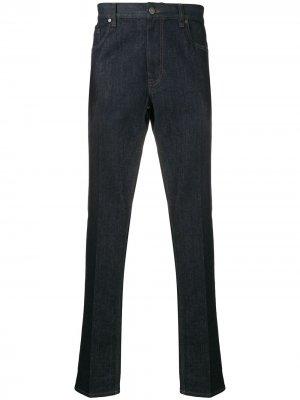 Прямые джинсы Z Zegna. Цвет: синий