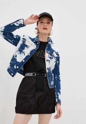 Куртка джинсовая Dsquared2. Цвет: синий