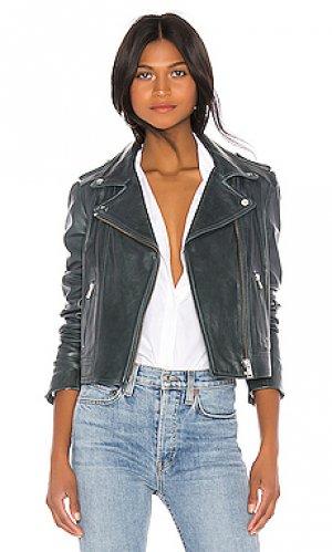 Кожаная куртка donna LAMARQUE. Цвет: серый