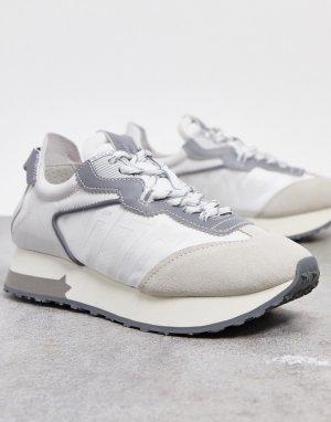 Серо-белые кроссовки для бега ASH Tiger Runner-Серый