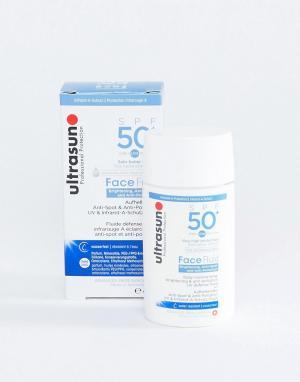 Лосьон с защитой от вредного воздействия окружающей среды SPF 50 + флюид для лица Ultrasun