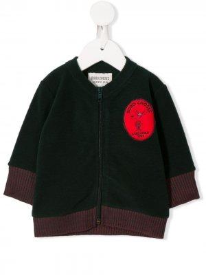 Куртка с вышитым логотипом Bobo Choses. Цвет: зеленый