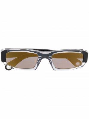 Солнцезащитные очки в прямоугольной оправе Jacquemus. Цвет: черный