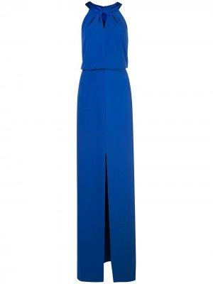 Платье с вырезом капелькой Halston Heritage. Цвет: синий