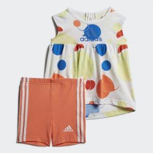 Комплект: платье и шорты Summer Style Performance adidas. Цвет: желтый