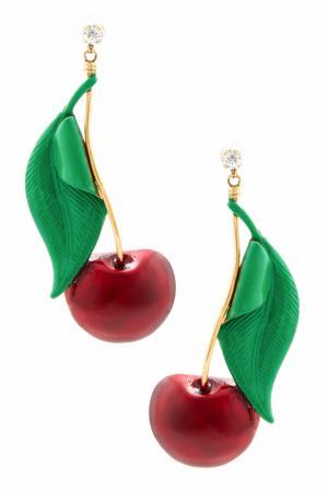 Серьги Cherry Pie Erickson Beamon. Цвет: красный