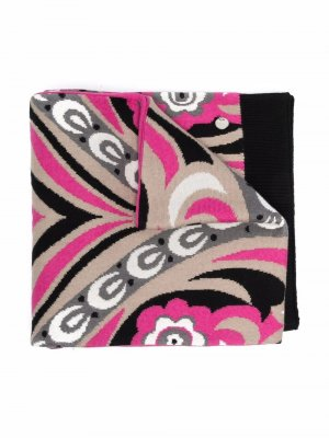 Полотенце с абстрактным принтом Emilio Pucci Junior. Цвет: черный