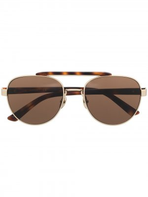 Солнцезащитные очки CK19306 в круглой оправе Calvin Klein. Цвет: коричневый