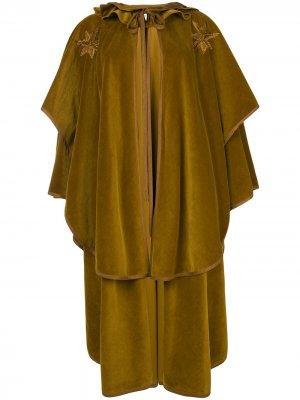 Накидка с вышивкой Versace Pre-Owned. Цвет: зеленый