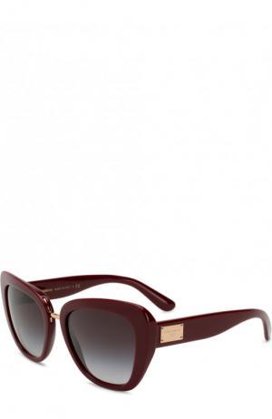 Солнцезащитные очки Dolce & Gabbana. Цвет: бордовый