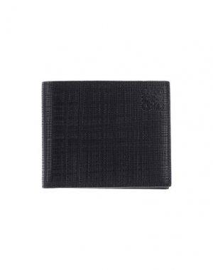 Бумажник LOEWE. Цвет: черный