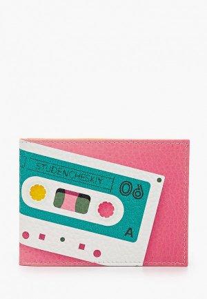 Обложка для документов Qoper. Цвет: розовый