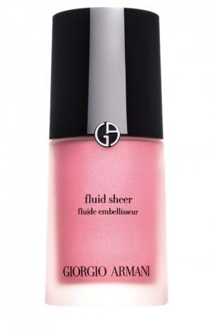 Fluid Sheer флюид для сияния кожи оттенок 8 Giorgio Armani. Цвет: бесцветный