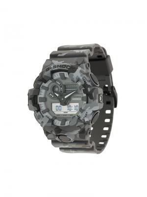 Часы с камуфляжным узором Casio x G-Shock. Цвет: серый