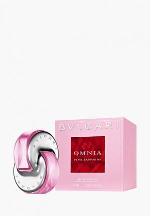 Туалетная вода Bvlgari Omnia Pink Sapphire, 40 мл. Цвет: прозрачный