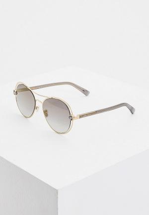 Очки солнцезащитные Jimmy Choo SARAH/S RHL. Цвет: золотой