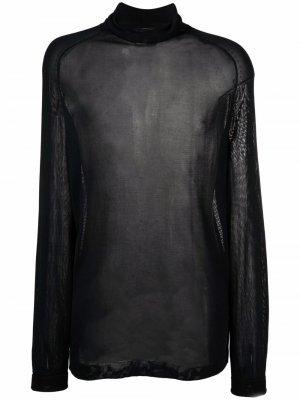 Джемпер тонкой вязки 1990-х годов Jean Paul Gaultier Pre-Owned. Цвет: черный