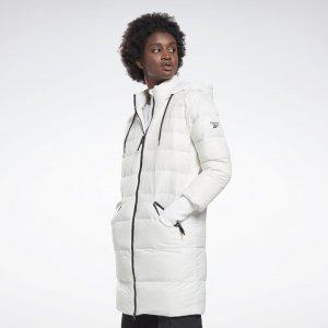 Длинный пуховик Outerwear Core Reebok. Цвет: white