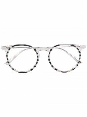 Очки в круглой оправе Calvin Klein. Цвет: серый