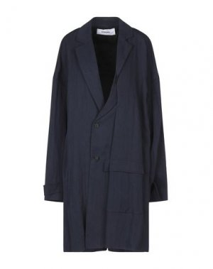 Легкое пальто CHALAYAN. Цвет: темно-синий