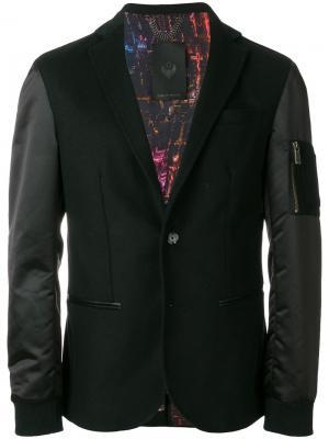 Пиджак в стиле бомбера Frankie Morello. Цвет: чёрный