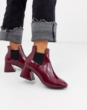 Ботинки челси на каблуке -Красный Glamorous