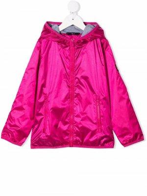 Куртка с капюшоном и блестками Ciesse Piumini Junior. Цвет: розовый