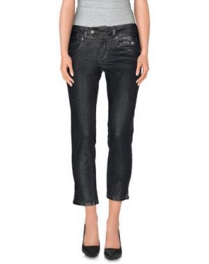 Джинсовые брюки-капри GALLIANO. Цвет: черный