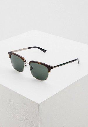 Очки солнцезащитные Gucci GG0697S 003. Цвет: коричневый