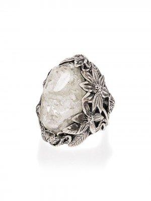 Серебряное кольцо Winter Leaf с кристаллом Lyly Erlandsson. Цвет: серебристый