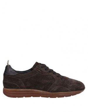 Низкие кеды и кроссовки ALEXANDER HOTTO. Цвет: темно-коричневый