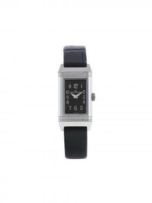 Наручные часы Reverso Lady pre-owned 16 мм 2020-го года Jaeger-LeCoultre. Цвет: черный